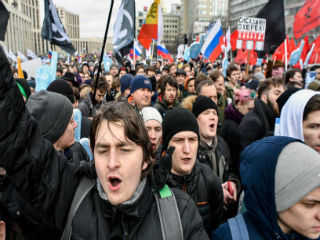 "A study last May showed an overwhelming 94 percent of Russians saying they no longer rely on the state for any help. Only 7 percent of those polled expressed support for a strong leader, and 80 percent prefer social justice over order—a significant shift since the 1990s. A follow-up survey conducted in October and November 2018 showed that a majority of Russians now clearly favors change over stability and the rule of law over social justice. Crucially, 63 percent also signaled a new appetite for ""self-expression"" and personal responsibility, such as contributing to charities, volunteering, or social movements."