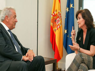 The Commissioner for Migration, Dimitris Avramopoulos, was in Spain on Friday to meet Spanish government vice-president Carmen Calvo, Minister of Foreign Affairs Josep Borrell, Minister of Home Affairs Fernando Grande-Marlaska and minister for Labour, Magdalena Valerio.