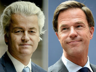 Final polls released late Tuesday appeared to show Rutte pulling away from Wilders, crediting the VVD with coming top with 24 to 28 seats.