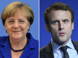 "Macron was very direct in his response to a question as to whether — after many years of listlessness and standstill, if not mutual frustration — his goal is to preside over another historic period in the French-German relationship. He gave a one-word answer to a very laboriously put question: ""Yes."" Merkel, for her part, had an appreciating smile."