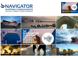 "This year NAVIGATOR – The Shipping Decision Makers Weekend ""is going . . back to the Greek maritime roots"" by taking place in Chios, the island that is the birthplace of many shipowners, executives and seafarers and thus is considered to be one of the most important shipping places."