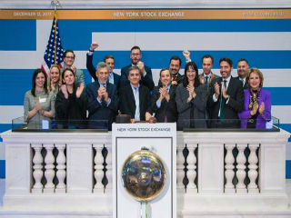 "The participants of the ""Closing Bell"" ceremony included from the Government Delegation: Hon. Euclid Tsakalotos, Minister of Finance of the Hellenic Republic, Hon. Elena Kountoura, Minister of Tourism of the Hellenic Republic, Mr.George Tziallas, Secretary General for Tourism Policy and Development-Ministry of Tourism, Dr. Constantine Koutras, Consul General of Greece in New York, Nicolas Bornozis, President Capital Link, Olga Bornozi, Managing Director Capital Link."