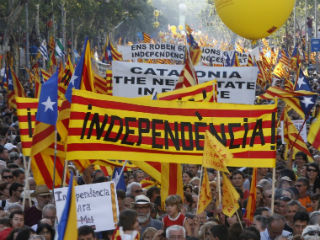 Catalonia would not have the means, including the fiscal means, to enforce a full independence. Problems would abound soon: who collects which taxes, who controls the regional police etc. At some point in time, Barcelona and Madrid will need to talk.